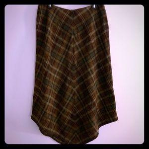 Lauren Ralph Lauren Plaid Wool Midi Skirt 12